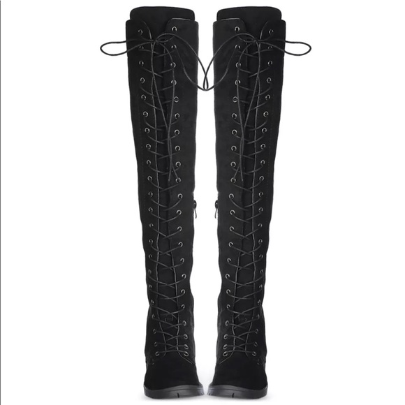 Over The Knee Tie Up Boots
